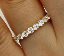 1.50 Ct 14K Yellow Gold Round Eternity Endless Wedding Anniversary Ring Band