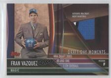2005 Topps Big Game Draft Day Moments Relics #DDB-FV Fran Vazquez Orlando Magic