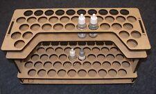 Modellers's Paint Rack; Vallejo, Scale 75, Andrea type paint bottles.