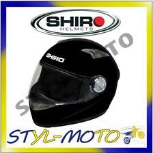 CASCO HELMET MOTO SCOOTER INTEGRALE SHIRO FIBRA DI VETRO SH-338 MONOCOLOR L M XL