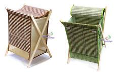 ALLZWECK Aufbewahrungshalter Wäschkorb Bambus klappbar