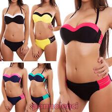 Bikini de mujer traje de baño push up mar slip cordones listas nuevo XK16806