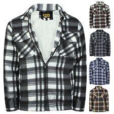 Da Uomo Lumber Jack Outdoor Trapuntato Imbottito controllato pieno tasca con zip giacca a camicia