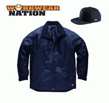Dickies Fulton Contract Jacket, Waterproof Work Coat Navy FREE SNAPBACK