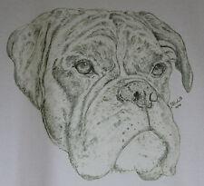 Boxer Dog T-Shirt and Sweatshirts Original drawn designs sizes 3-6 month to XXL