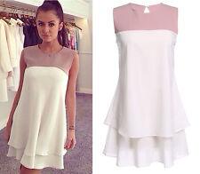 Vestito Donna Mini Dress Chiffon Casual - Woman Mini Dress Patchwork 110076