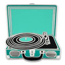 PinMart's Retro Vinyl Record Player Music Trendy Enamel Lapel Pin