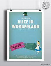 Alice au pays des merveilles-Minimaliste Art Movie Poster Minimal Imprimer posteritty