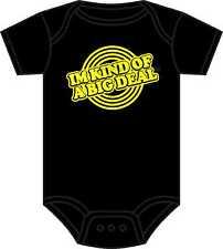 ANCHORMAN BABYGROW WILL FERRELL IM KIND OF A BIG DEAL BABY GROW ASST COLOURS NEW