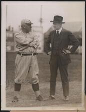 1921 Orig Baseball Press Photo - At The Giants' Training Camp
