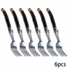 Black Steak Fork Stainless Dinner Forks Plastic Handle Table Fork Four Times