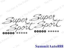 66 67 Chevy Nova Rear Quarter Emblem - SUPER SPORT / SS - Pair 2PCS NOEM6667-3