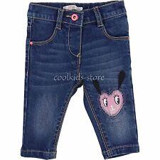 Billieblush Hose Jeans Herz Applikation blau rosa  68 74 80 86 92 98 NEU