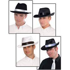 Gangster Hat Adult Mobster Al Capone Costume Fedora Halloween Fancy Dress