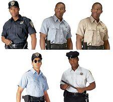 Security, Police & Uniform Short Sleeve Shirt Professional Mens Work Shirt S-4XL