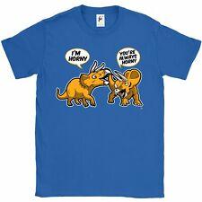 Sempre Horny Coppia di Horned TRICERATOPO DINOSAURI T-Shirt da uomo