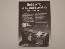 advertising Pubblicità 1975 ROLLEI A110 A 110
