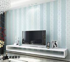 10M European Simple Vertical Stripe plain Non-woven wallpaper Sofa TV Background