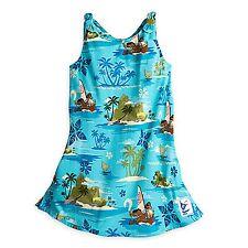 Disney Store Moana Island Blue Woven Party Dress Girls Holiday Costume Dress NEW