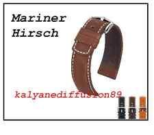 bracelet cuir mariner hirsch band strap marron gold ou noir + 2 anses pompes