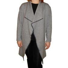 Cardigan Donna Lungo  elegante no bottoni aperto grigio marrone nero S/M-L/XL