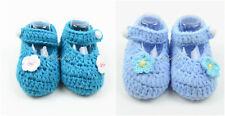 Newborn Baby Crochet Mary Jane Baby Shoes Booties for Baby Girl Newborn-6 Months