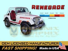 1983 1984 Jeep Renegade CJ5 CJ7 Decals & Stripes Kit