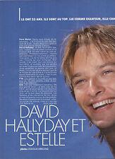COUPURE DE PRESSE 1989 DAVID HALLYDAY et ESTELLE ils racontent leur Amour