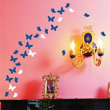 42 Farfalla Adesivi In Vinile Muro Parete Arte, Decalcomania, 2 Diverse Forme