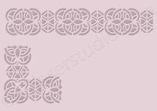 Decorative Stencil Panel Border Template Paint Furniture Card making Crafts BA10