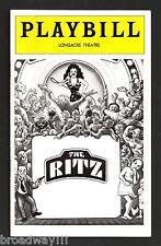 "Stubby Kaye ""THE RITZ"" Terrence McNally / F. Murray Abraham 1975 Playbill"