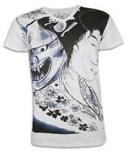 AKO Roshi T-shirt Geisha demone HANNYA taceva maschera Giappone Biker Tatuaggio M L XL