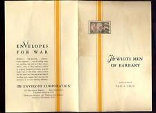 ADVERTISING WAR ENVELOPES LEAFLET..WHITE MEN of BARBARY