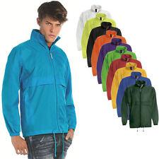 Herren B&C Wind-Regen Dicht Outdoor Jacke Sweatshirt Shirt Pullover S - 3XL