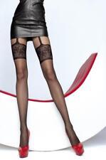 Collant fantaisie sexy femme imitation bas porte-jarretelles 20 den Fiore muriel