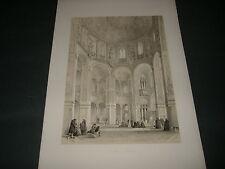 1843 GEORGE B.MOORE RAVENNA BASILICA DI SAN VITALE  H.GALLY KNIGHT