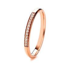 9 Ct Oro Rosa 2mm Muy Pesado Corte Diamante Juego Alianza