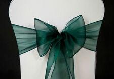 Emerald Green 2.8 Metres Long Organza Sash Chair Covers Bows Wedding Decoration