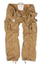 SURPLUS Premium Vintage Trousers Cargo Army Pants Mens Work Combats Sand