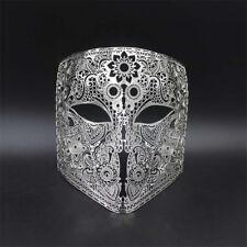 Mens Bauta Filigree Metal Prom Venetian Mardi Gras Masquerade Halloween Mask