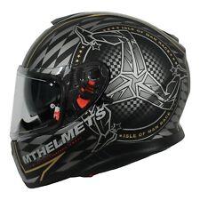 MT Thunder 3 ISLE OF MAN TT RACES Motorcycle Crash Helmet -Gold + Pinlock insert