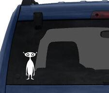 Space Alien #2-  Little Antenna Man Cartoon Monster - Car Tablet Vinyl Decal