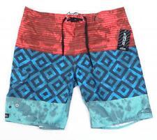 Astars Topper Red Blue & Green Boardshorts Swim Trunks Mens NWT