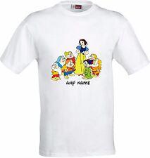 Personalizzato Biancaneve & I SETTE NANI FUNNY Full Color Sublimazione T Shirt