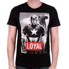 "Oficial Marvel Comics-Capitán América impreso con ""leal"" Texto Camiseta (nuevo)"