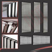 Brecon Oval Tube Vertical & Horizontal Designer Chrome Radiators, Single Panels