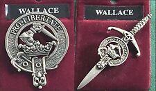 Badge or Kilt Pin Wallace Scottish Clan Crest Pewter