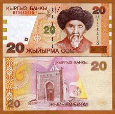 Kyrgyzstan, 20 Som, 2002, Pick 19, UNC