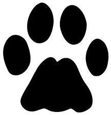 12 Dog Paw Print Decalcomania Adesivo Vinile per Auto o Chitarra