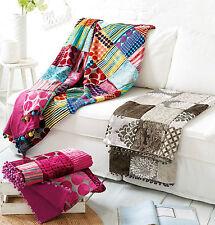 Patchwork Decke Plaid Samt Patchworkdecke Überwurf Tagesdecke Quilt 130 x 180 #